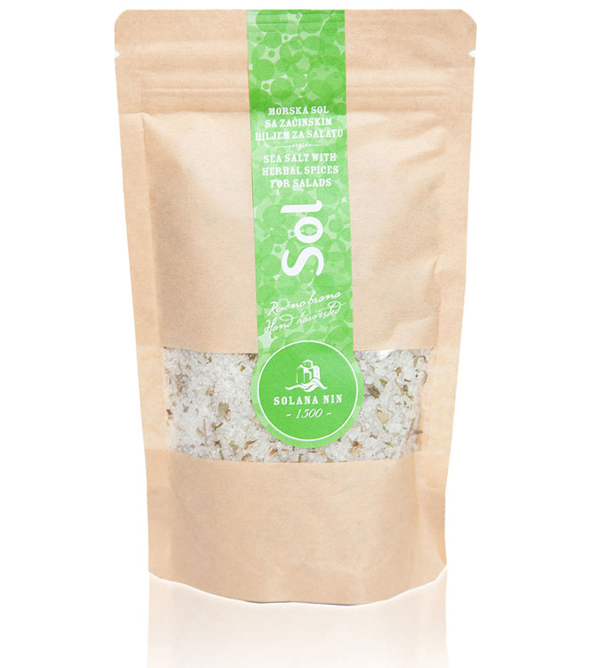 Sea Salt with herbal spices for salad