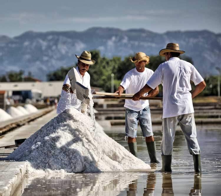 Nin saltworks, salt fields in Nin, traditional, www.zadarvillas.com